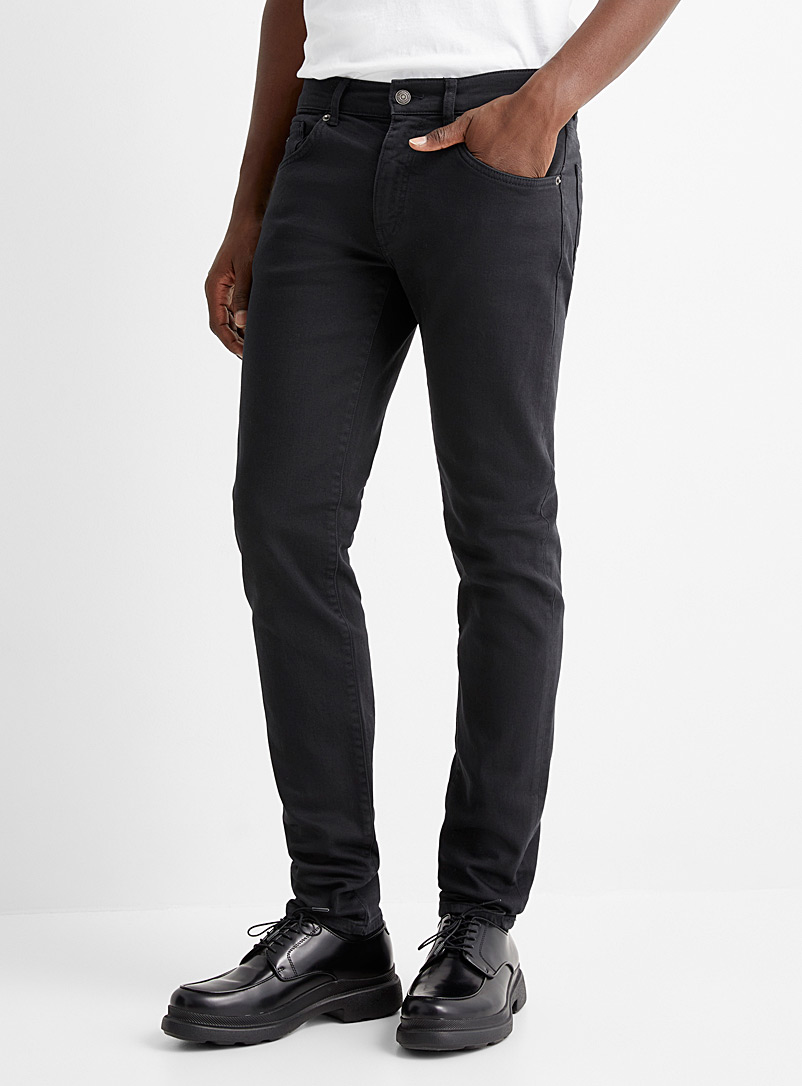 Jay solid black stretch jean