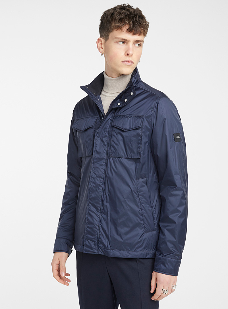 J. Lindeberg Marine Blue Dray jacket for men