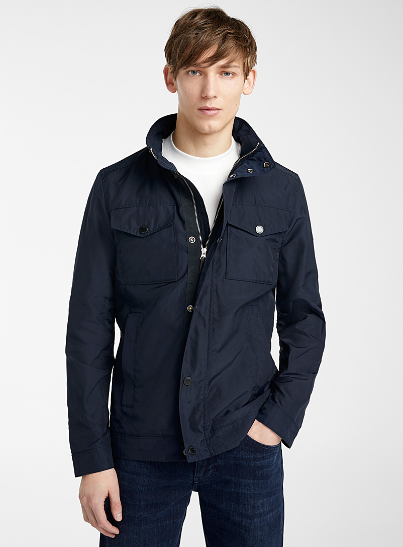 J. Lindeberg Marine Blue Bailey jacket for men