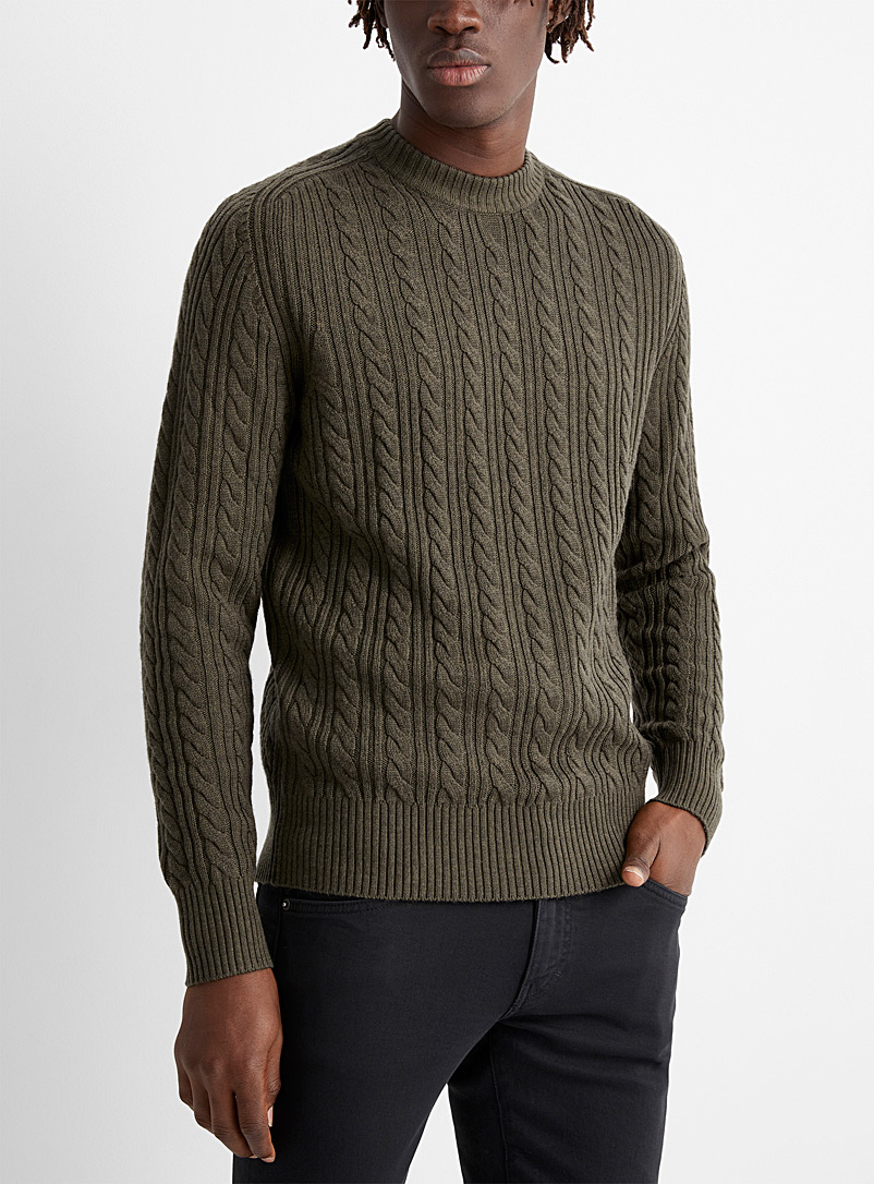 J. Lindeberg Green Henry cable sweater for men