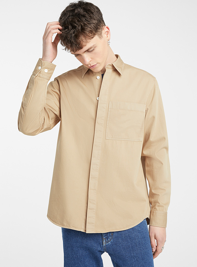 J. Lindeberg Cream Beige David shirt for men
