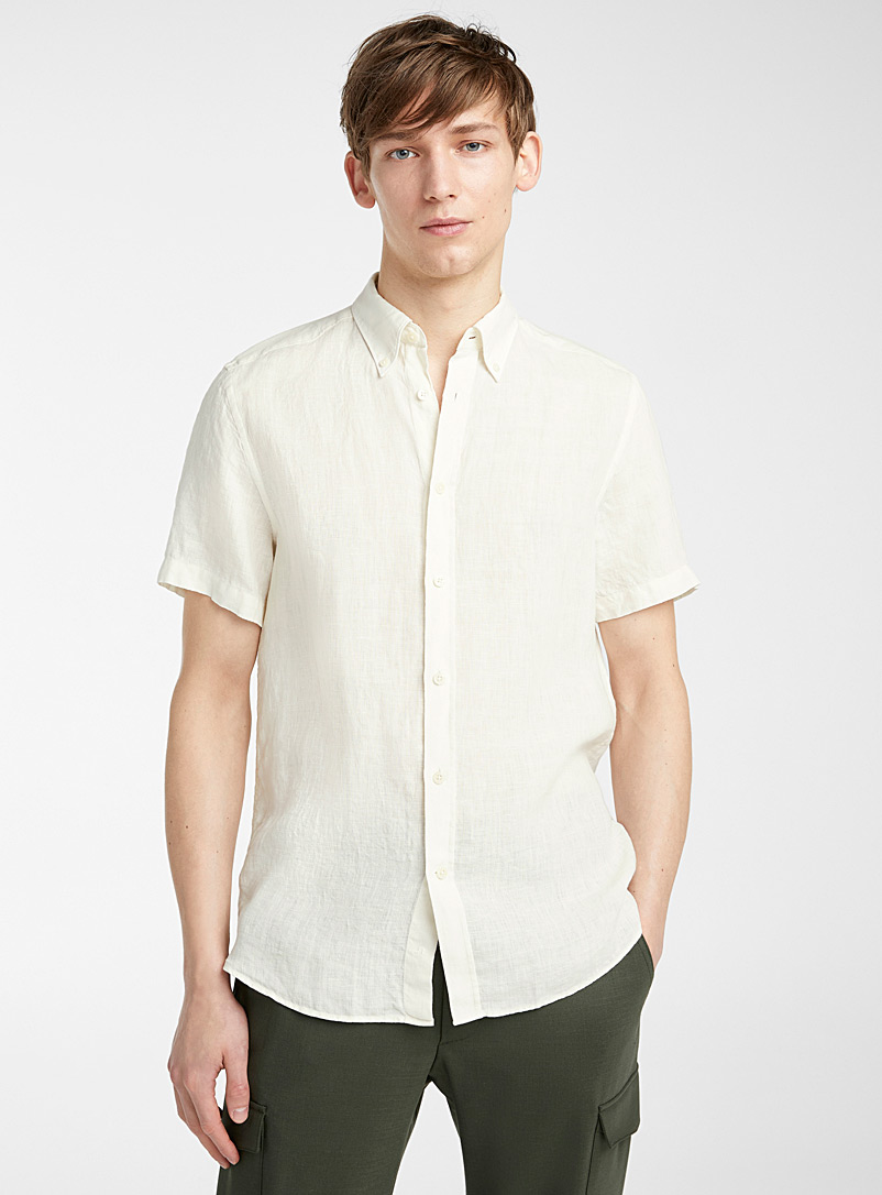 J. Lindeberg White Daniel shirt for men