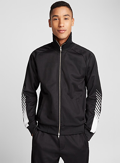 Accent stripe track jacket