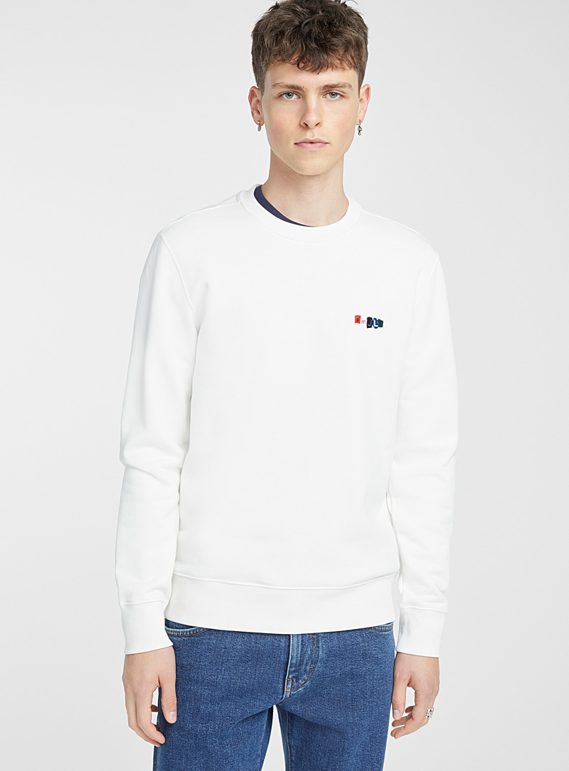 J. Lindeberg Cream Beige Throw sweatshirt for men