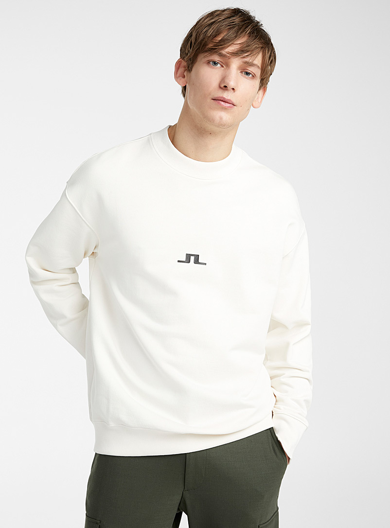 J. Lindeberg Ivory White JL Hector sweatshirt for men