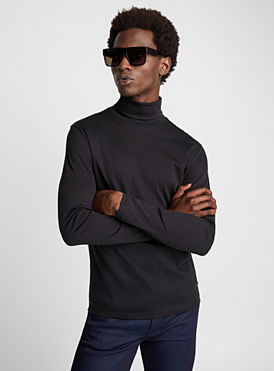Jersey turtleneck T-shirt