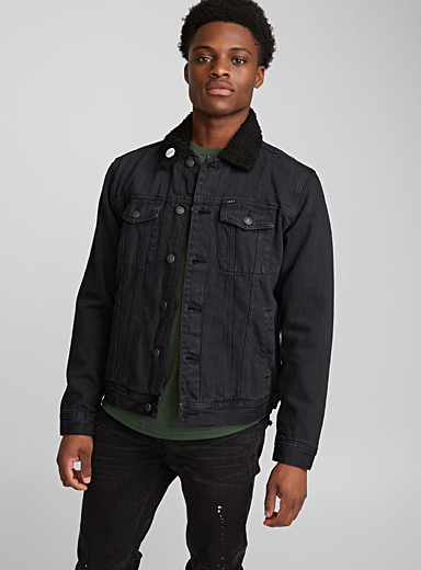 Off The Chain sherpa-lined denim jacket