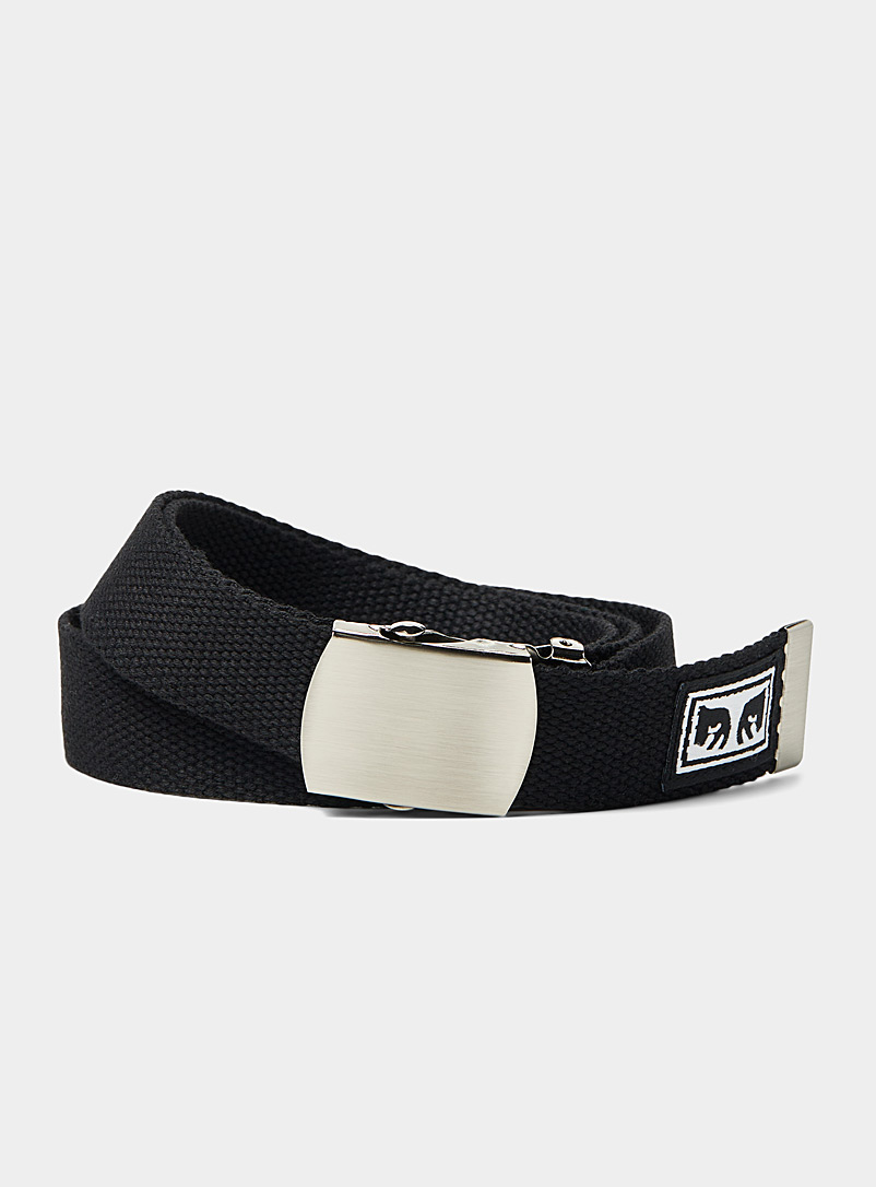 Obey Black Big Boy woven belt for men
