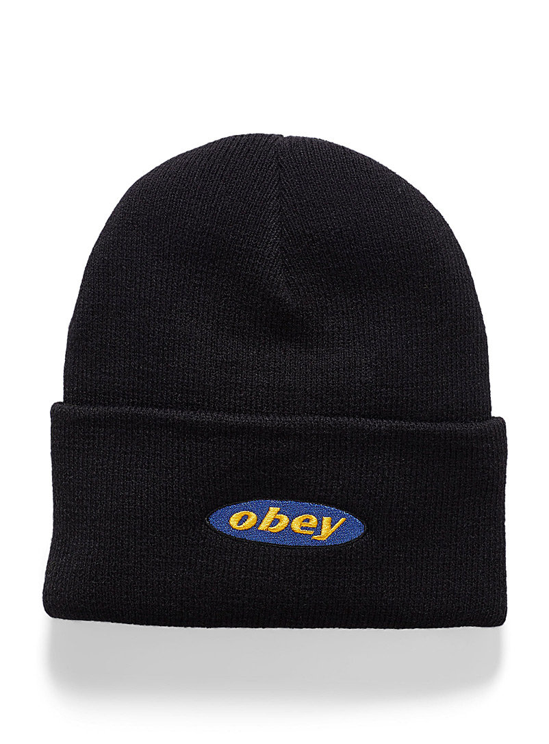 Embroidered logo cuffed tuque - Tuques - Black