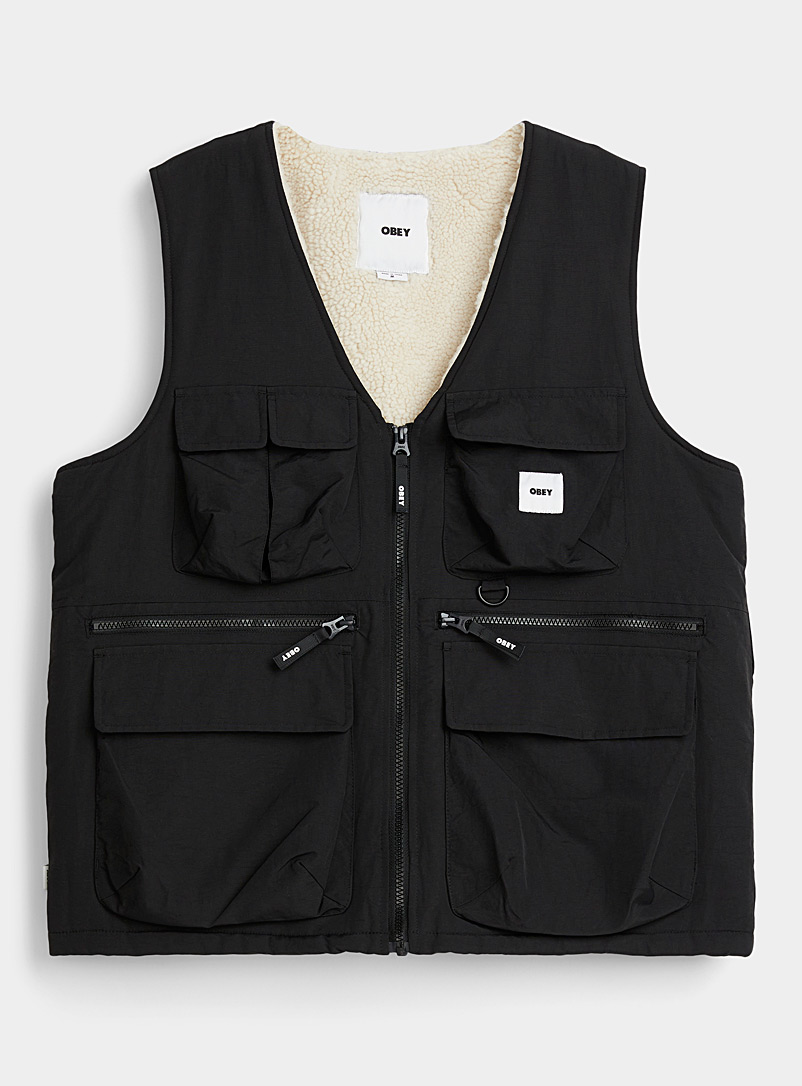 Sherpa-lined tactical vest