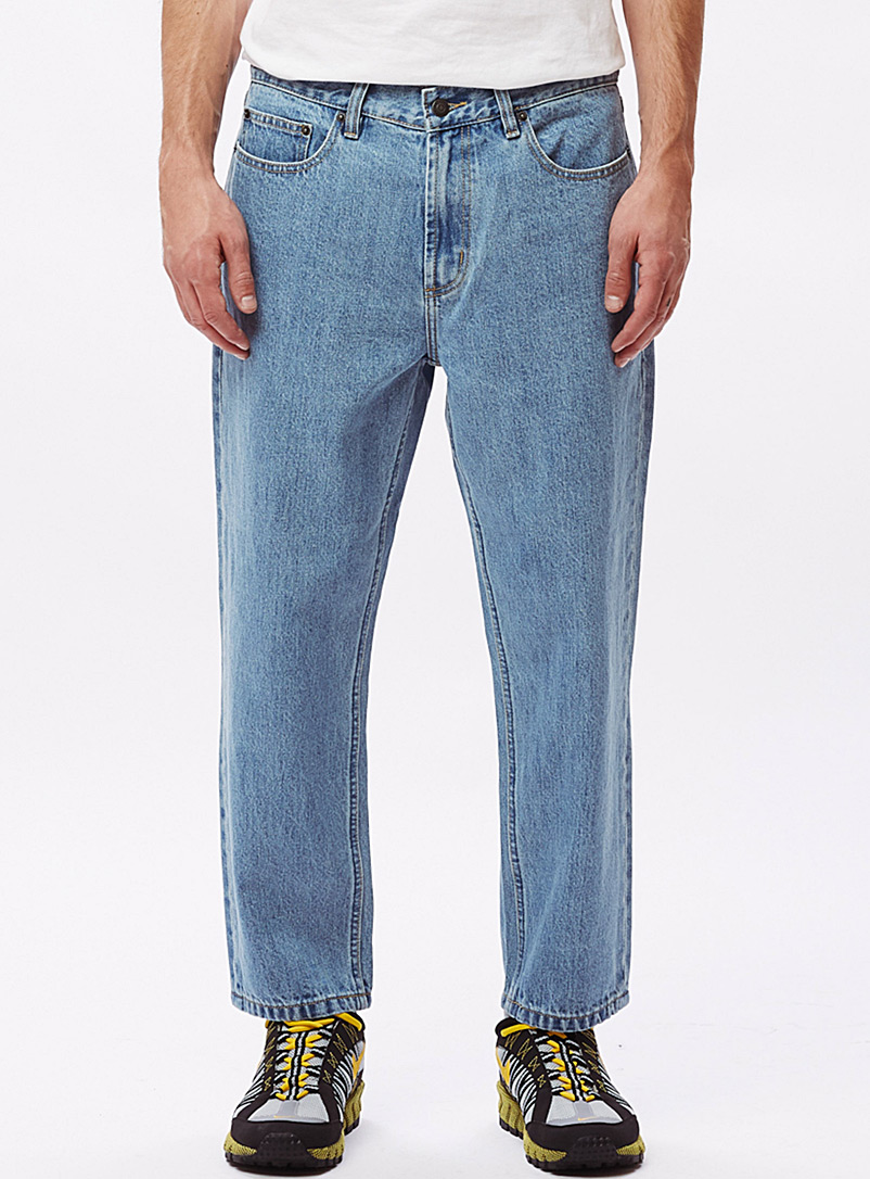Obey Baby Blue Bender dad jean  Straight fit for men