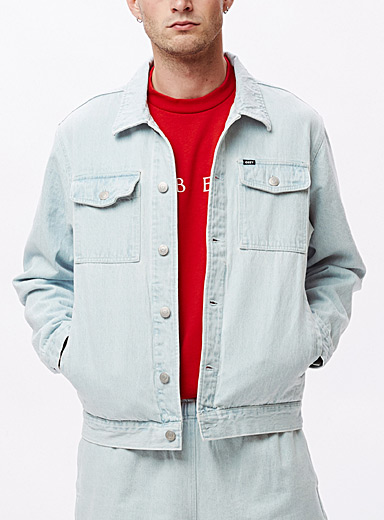Obey Baby Blue Faded jean jacket for men