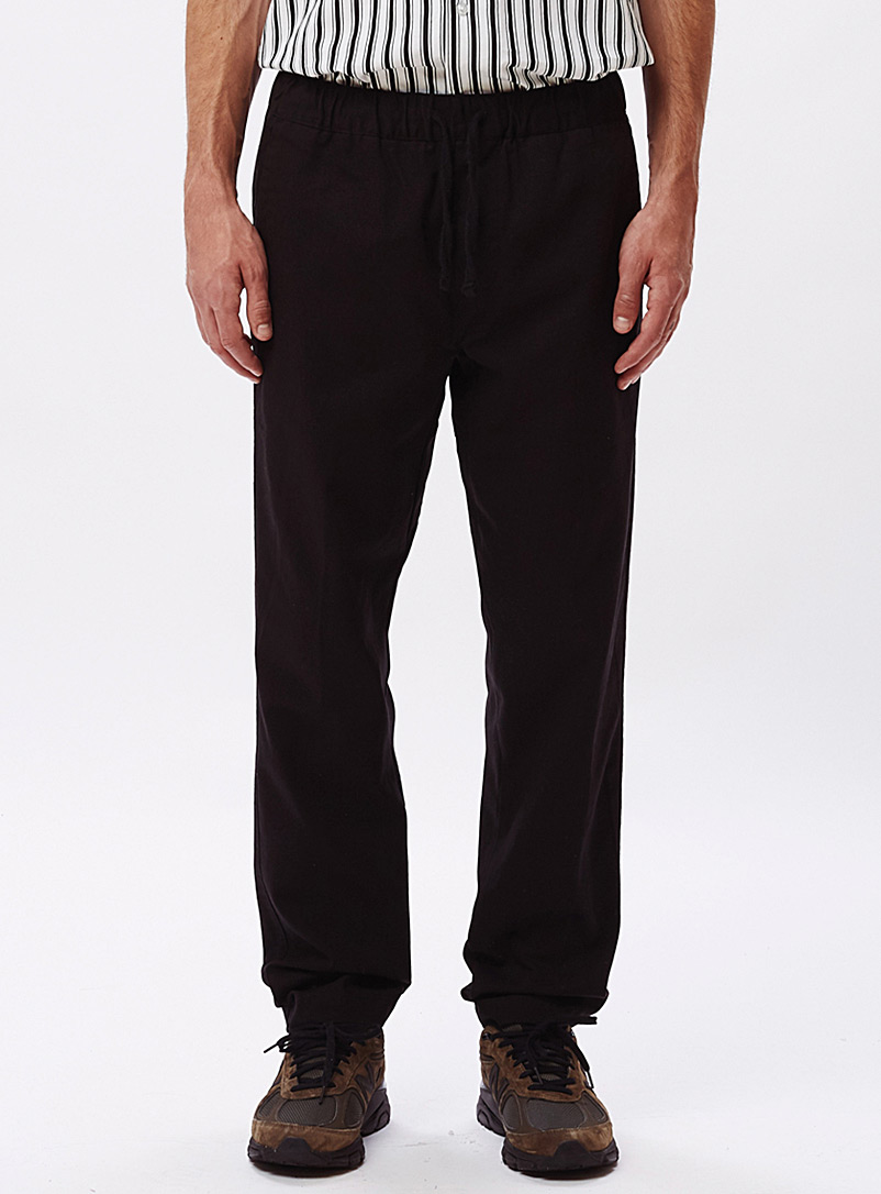 Obey Black Traveler organic cotton pant for men