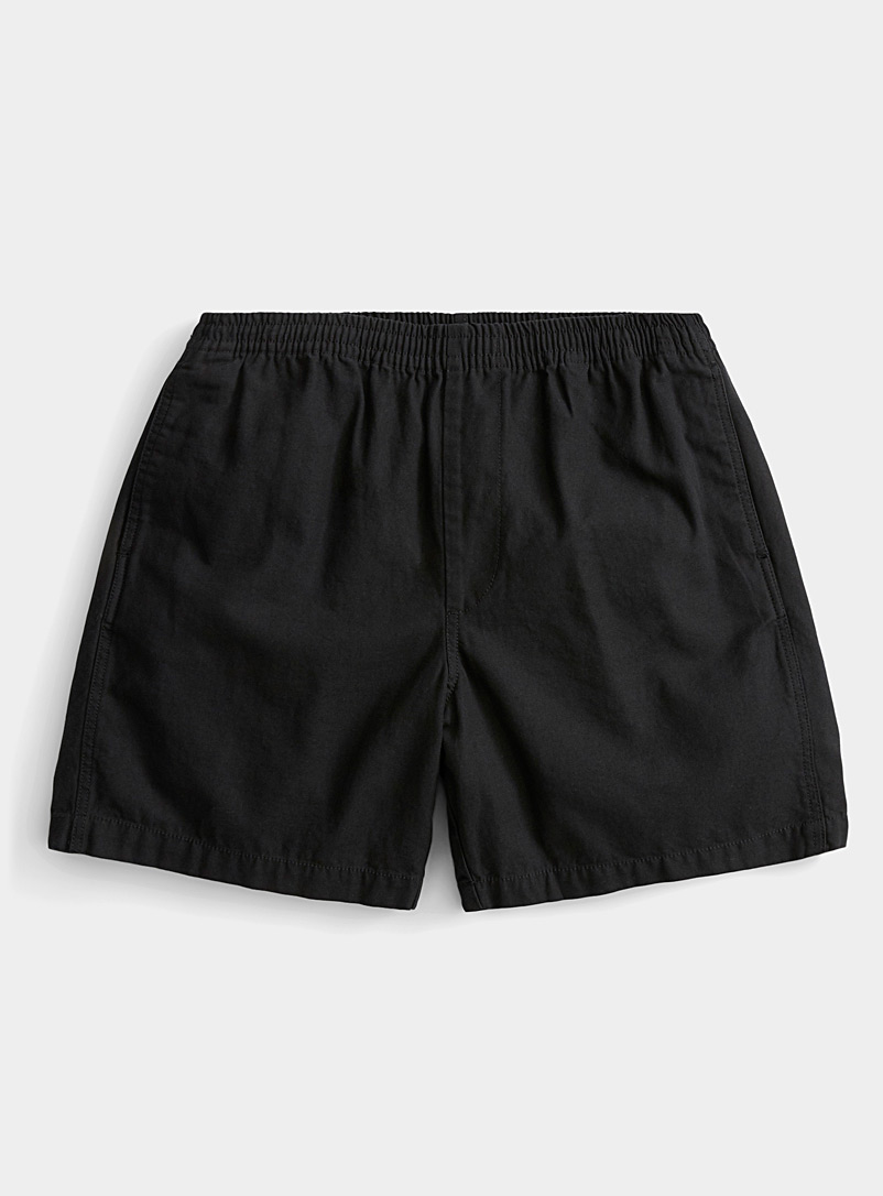 Obey Black Organic cotton khaki pull-on short for men