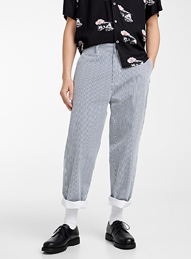 Striped carpenter pant