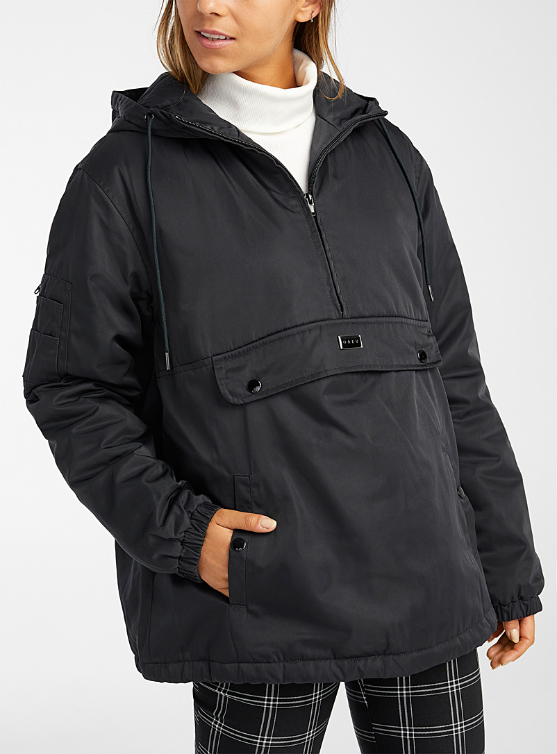Obey Black Black utility anorak for women