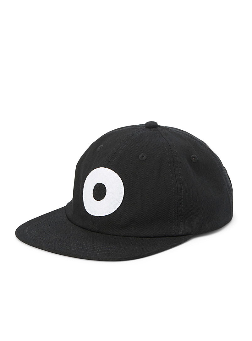 Obey Black Minimal logo organic cotton cap for men