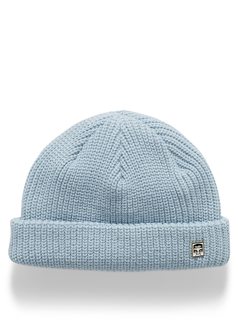 Obey Baby Blue The Creeper clip-pin cropped tuque for men