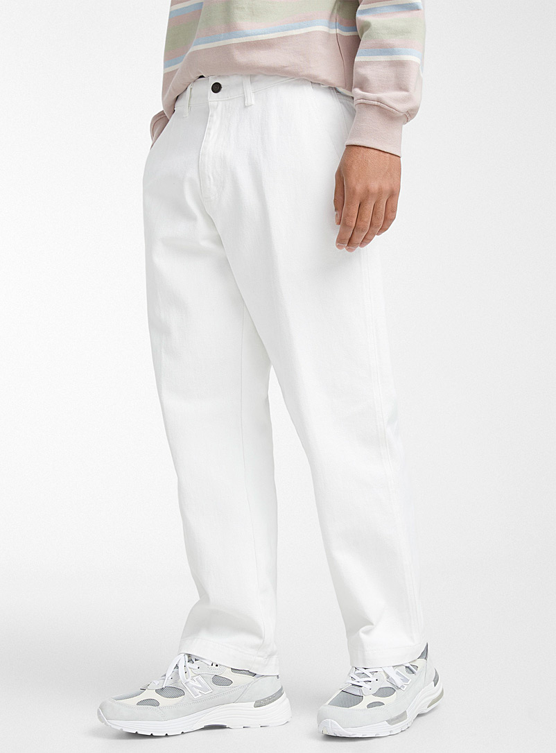 Obey White Hard Work worker jean Straight fit for men