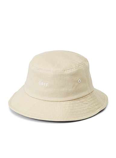 Natural organic cotton bucket hat