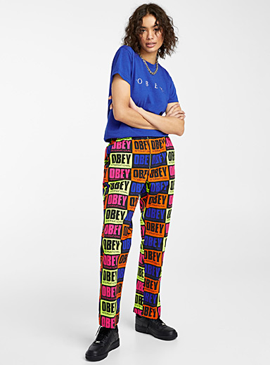 Fluorescent pop logo pant