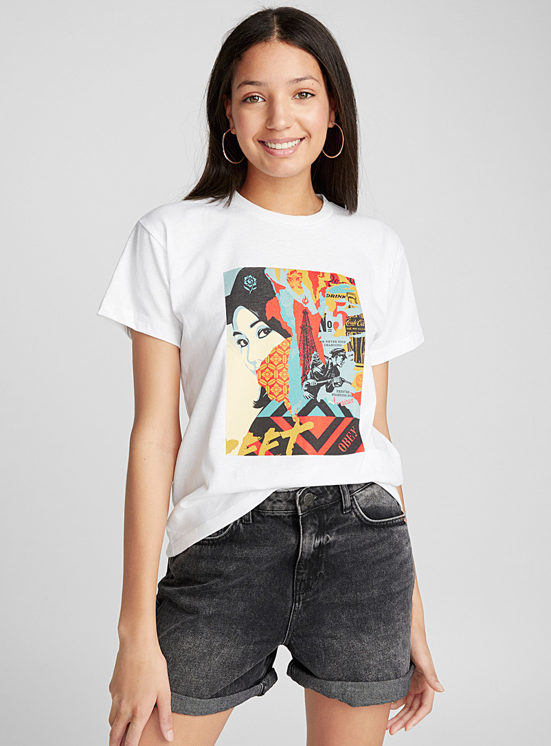 Historical woman tee - Short Sleeves & ¾ Sleeves - White