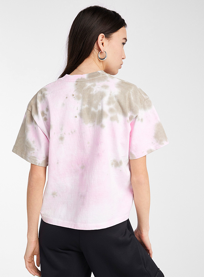 Obey Assorted Pink and earth tone tie-dye tee for women