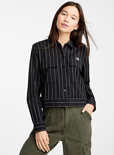 Pocketed stripe shirt