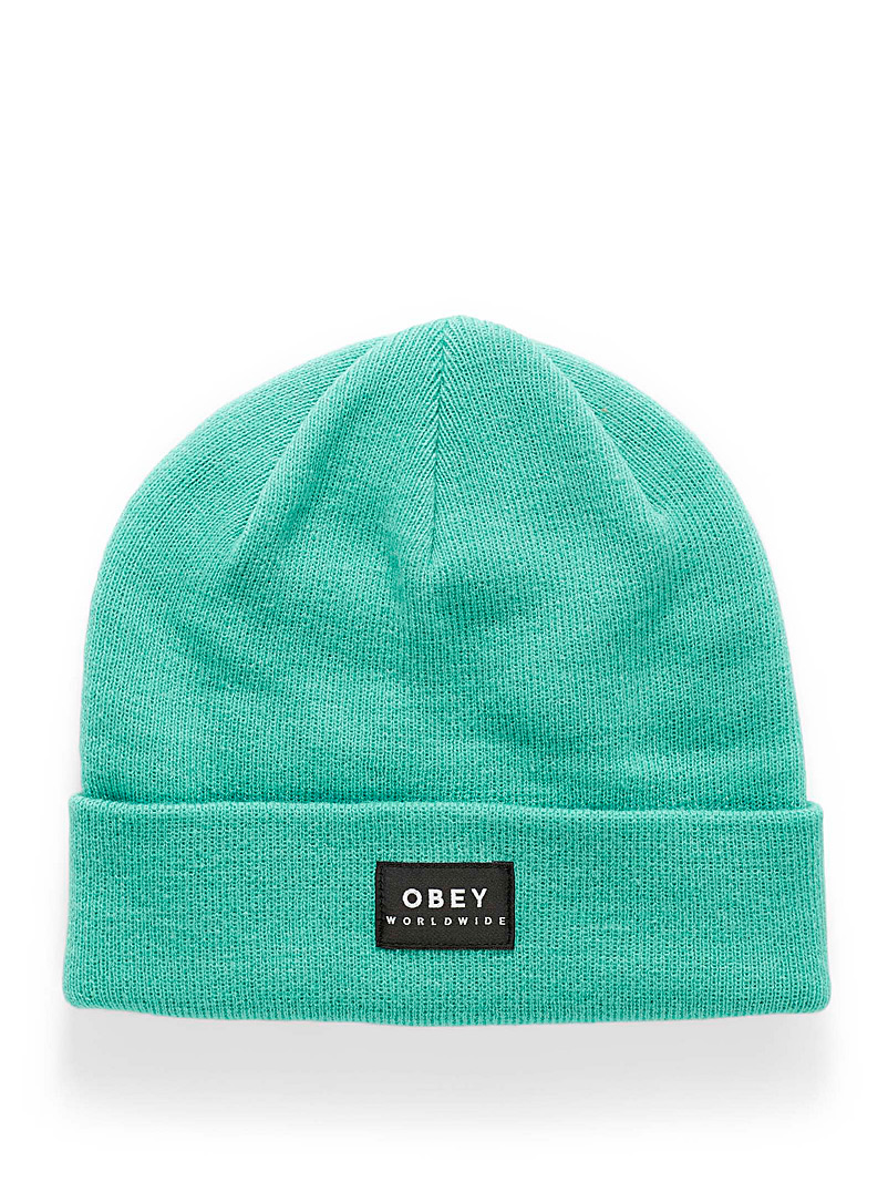 Obey Yellow Patch monochrome tuque for women