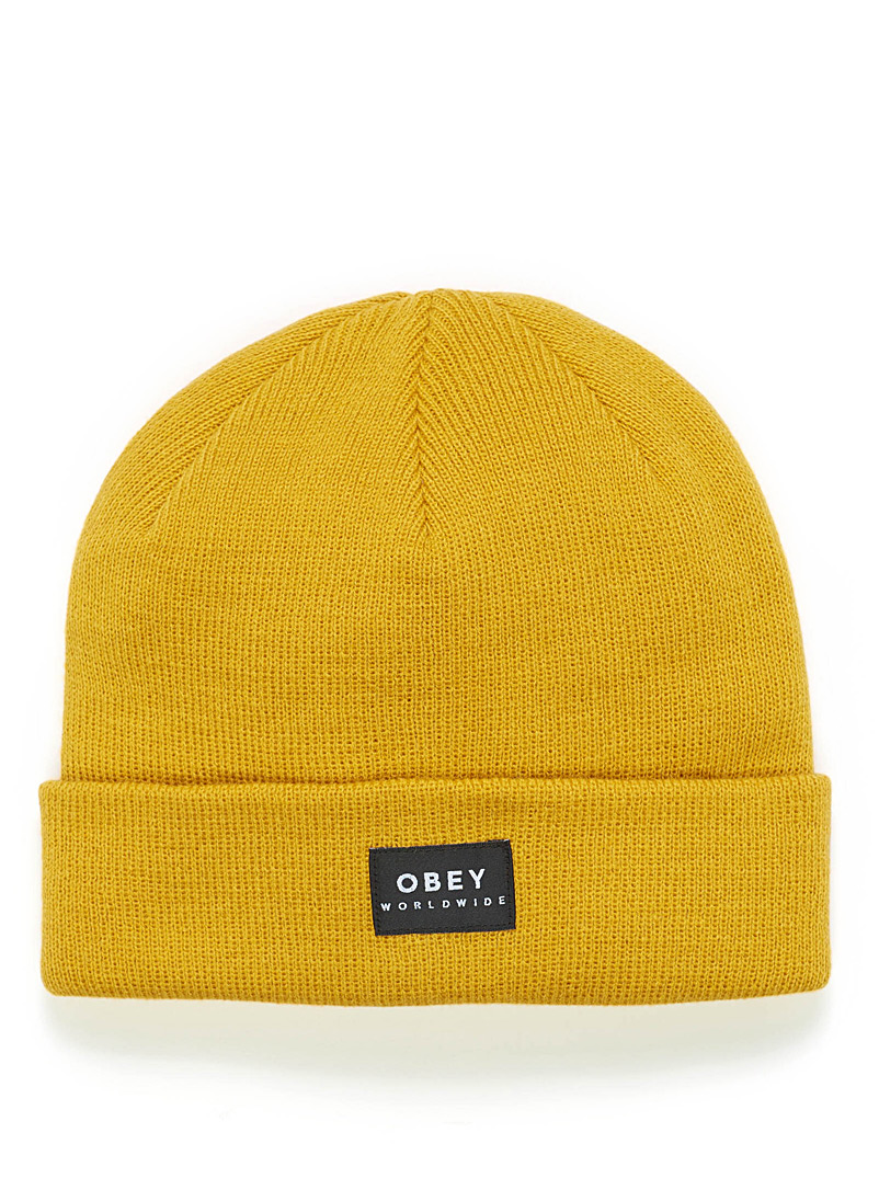 Patch monochrome tuque - Tuques & Berets - Dark Yellow