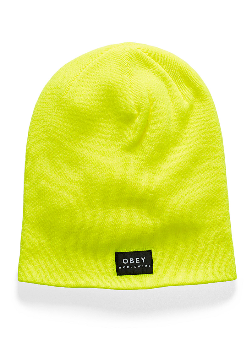 Patch monochrome tuque - Tuques & Berets - Medium Yellow