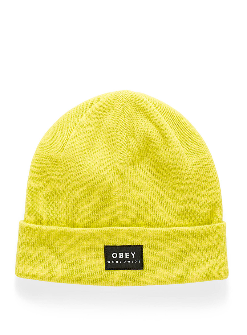 Patch monochrome tuque - Tuques & Berets - Yellow