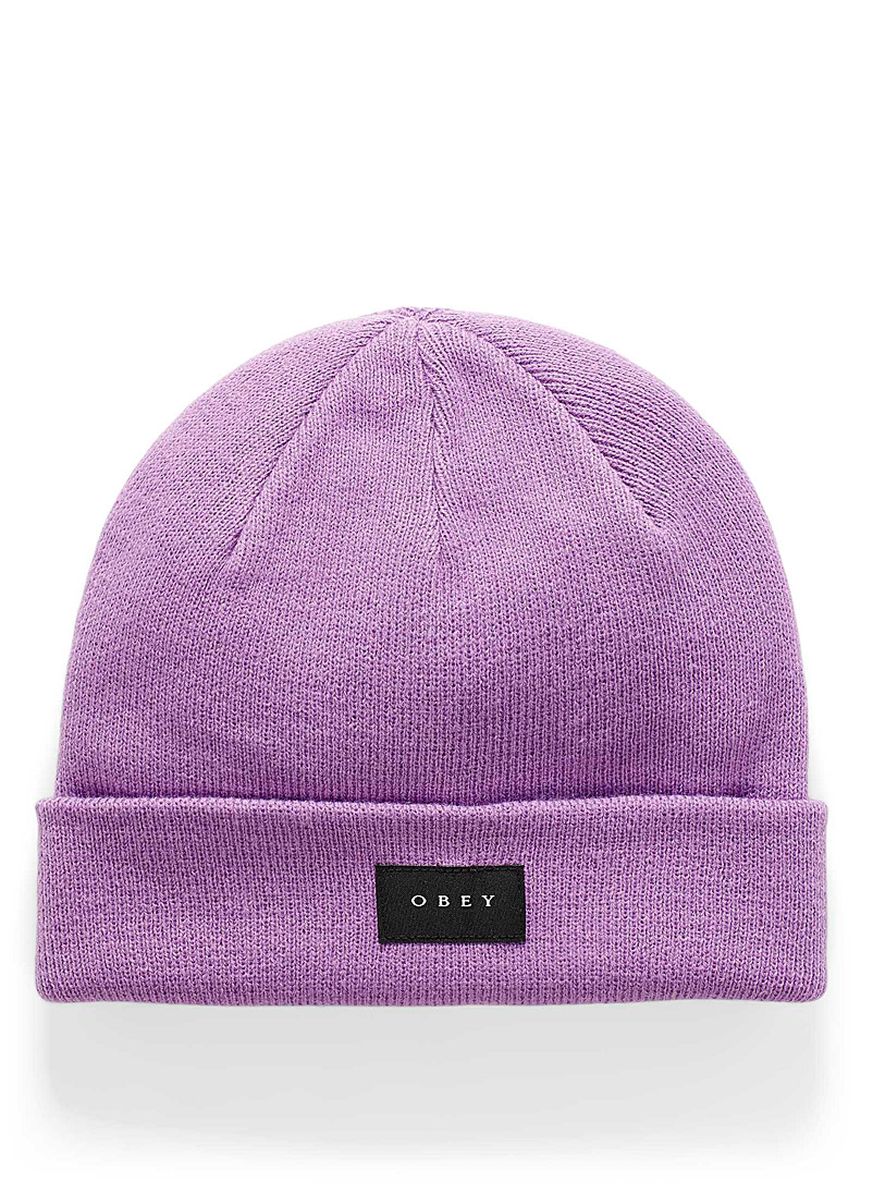 Obey Purple Virgil tuque for women