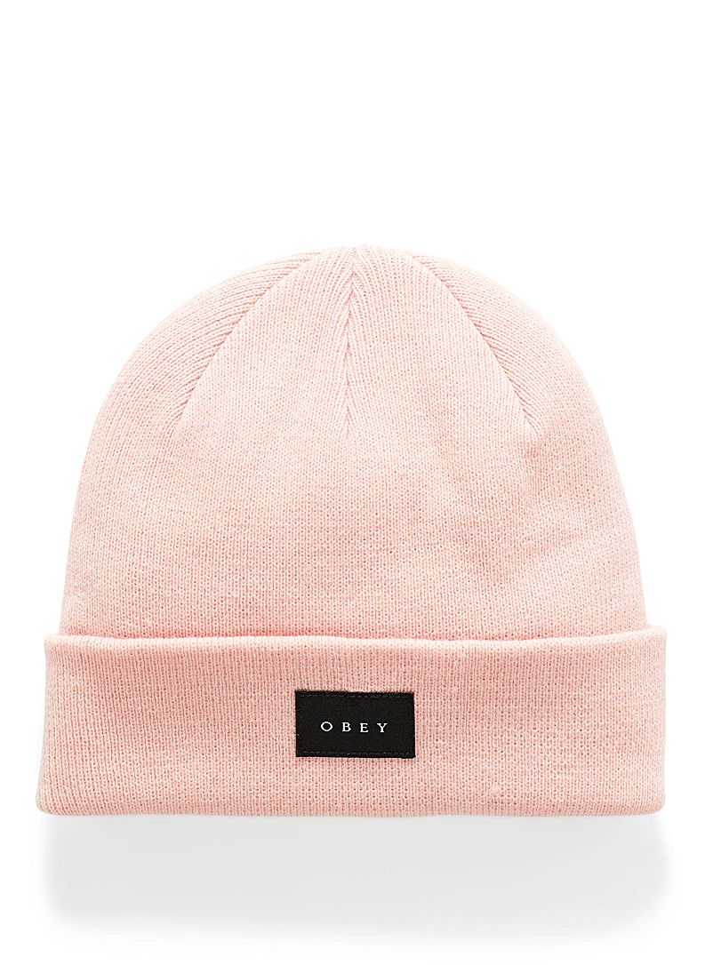Obey Pink Virgil tuque for women