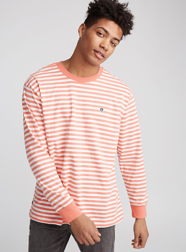 Pastel stripe long-sleeve T-shirt