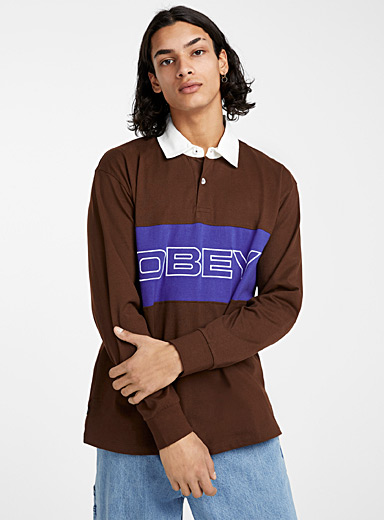 Logo block rugby polo