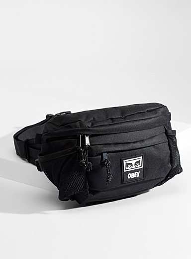 Obey Black Conditions III belt bag for men