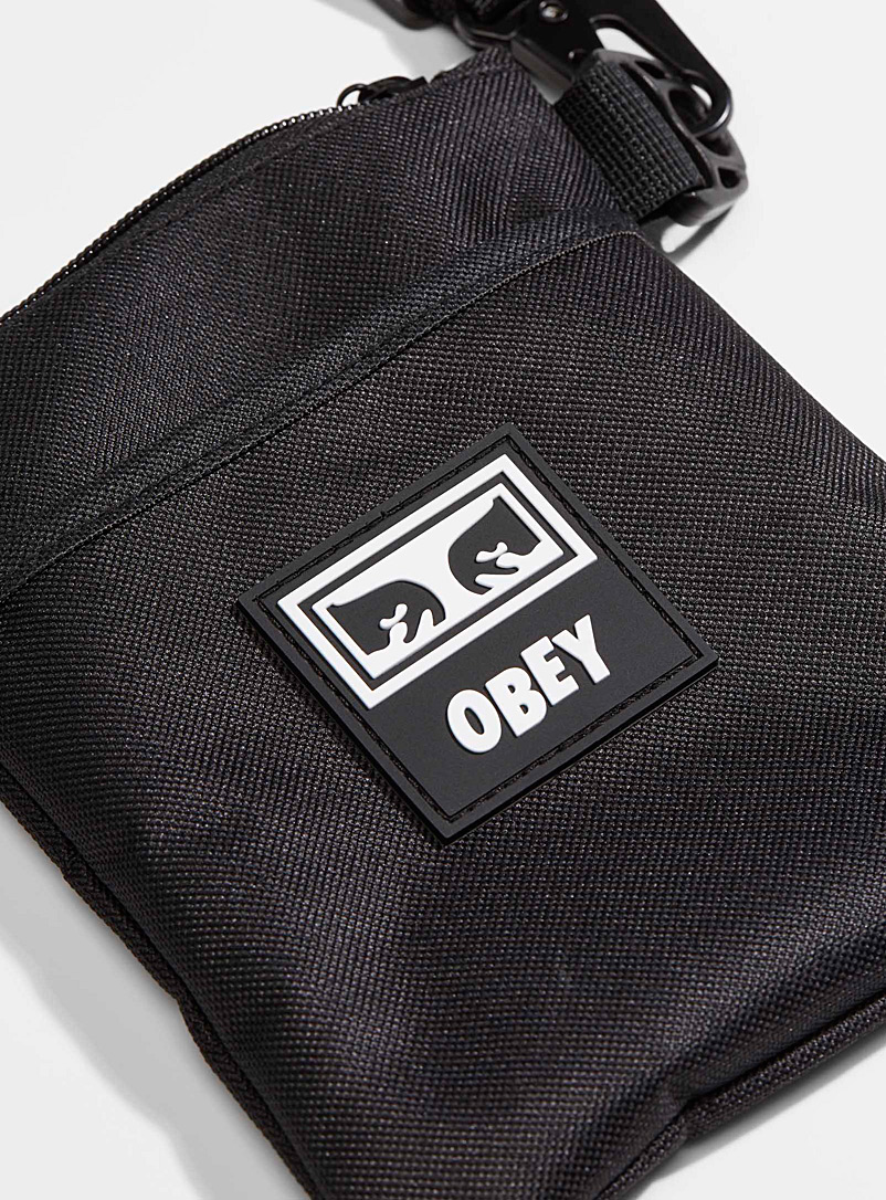 Obey Black Conditions III shoulder strap clutch for men