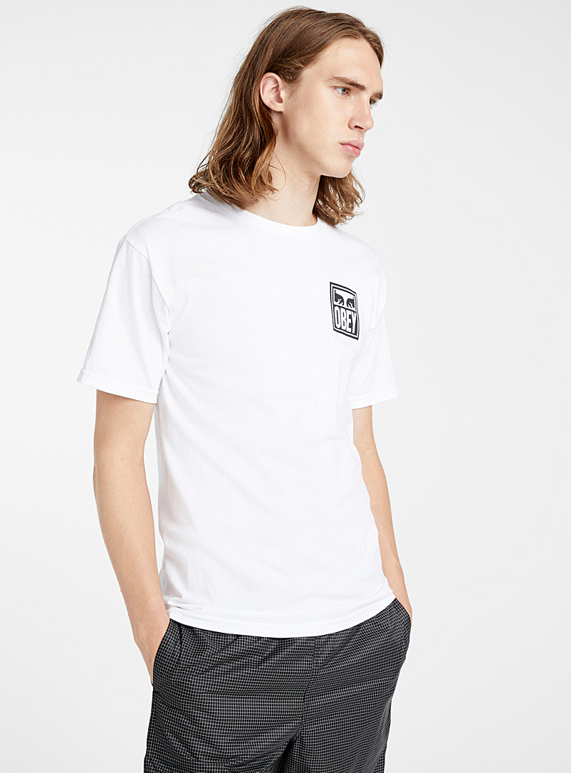 Obey: Le t-shirt vision The Creeper Blanc pour homme