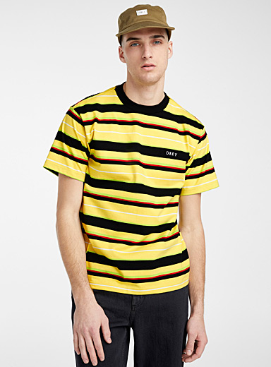 Obey Golden Yellow Dale organic cotton T-shirt for men