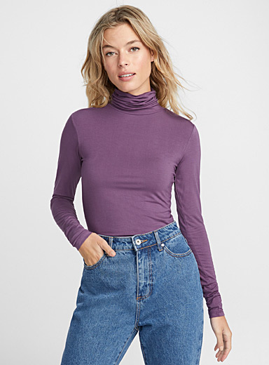 Essential jersey turtleneck