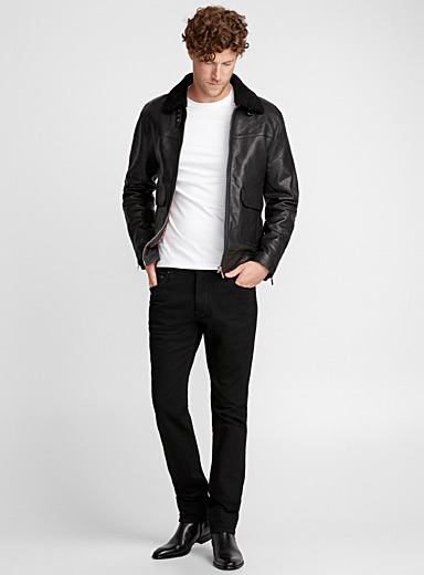 Ryan leather coat