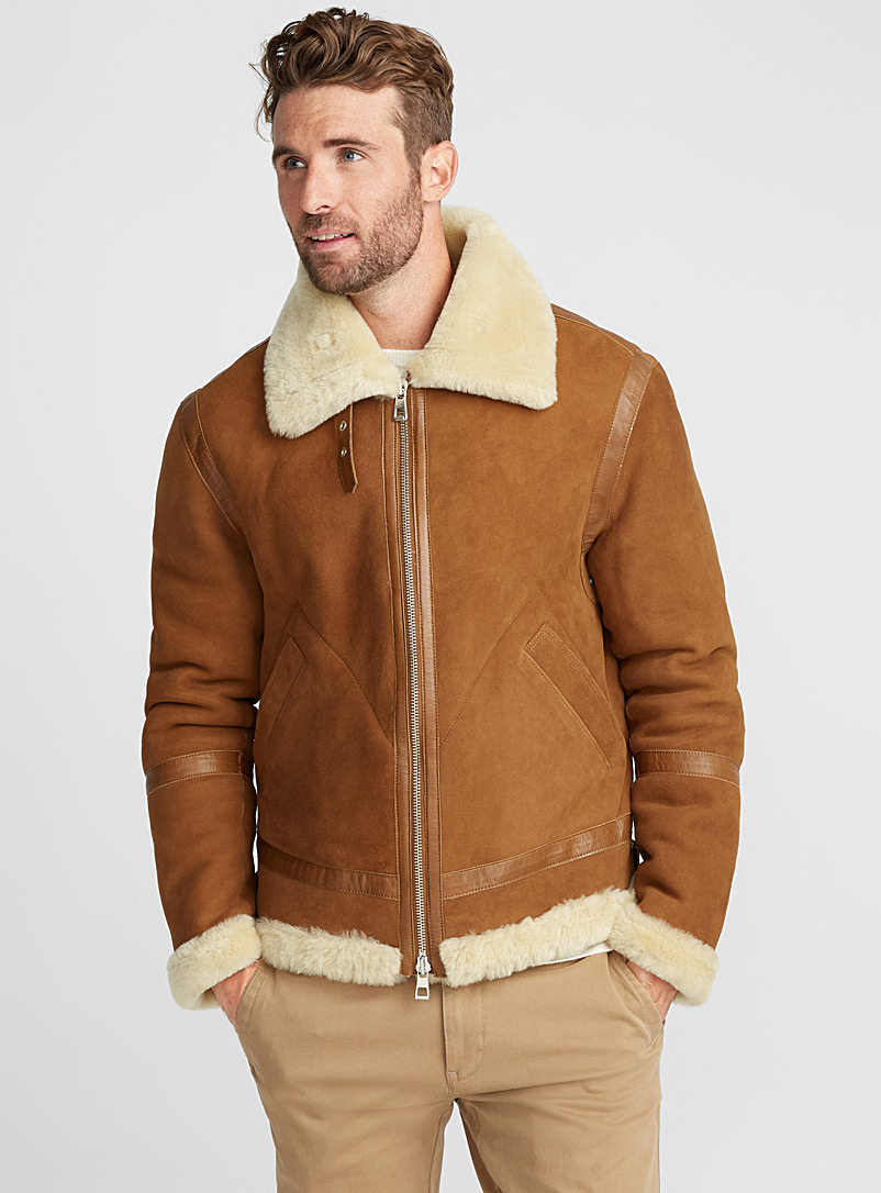 Shearling coat - Leather & Suede Jackets - Fawn
