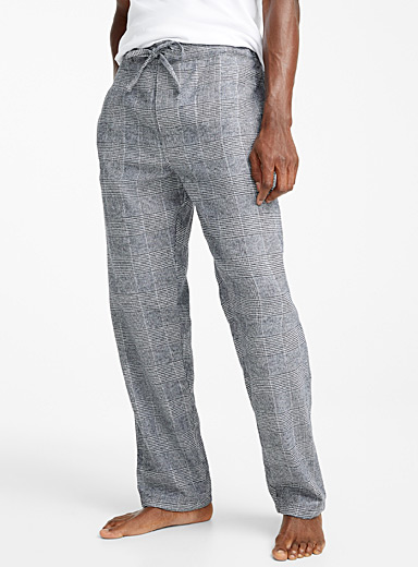 Check flannel lounge pant