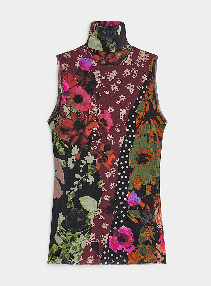 FUZZI Assorted Floral turtleneck for women