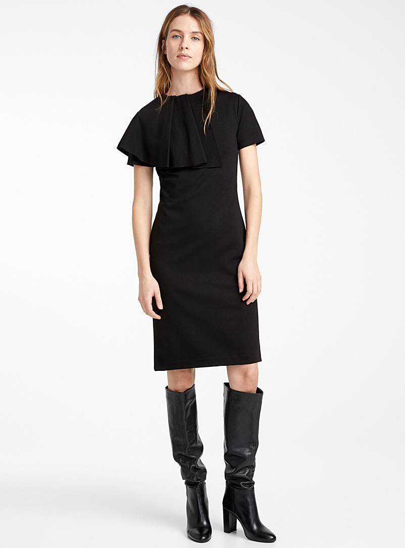ruffle-neck-dress