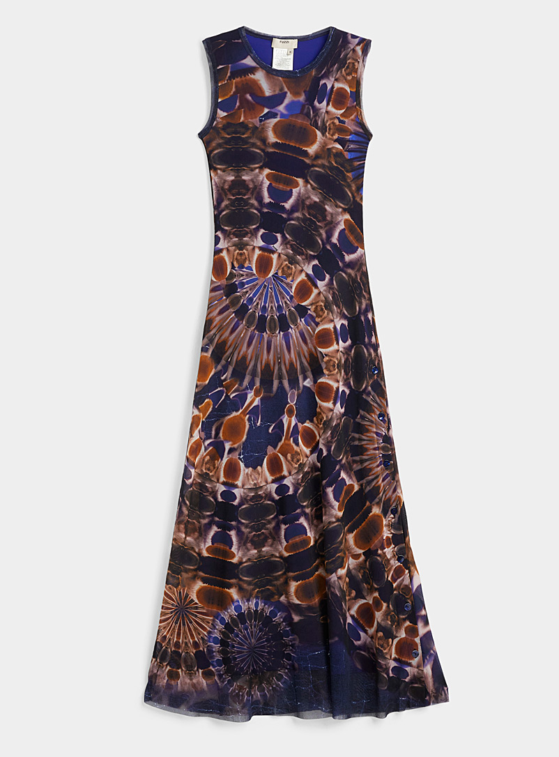 FUZZI Dark Blue Chakra maxi dress for women