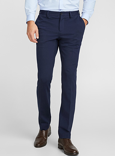 Minimalist structured jersey pant  Slim fit