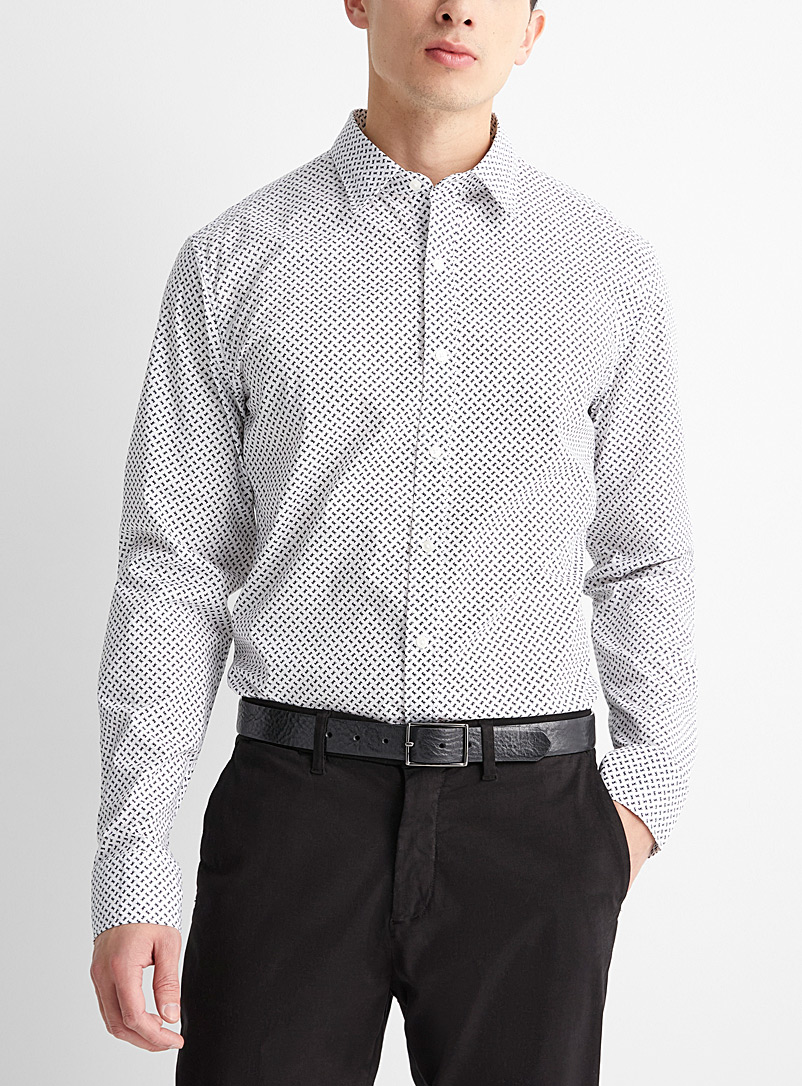 Michael Kors White Repeat logo shirt  Slim fit for men