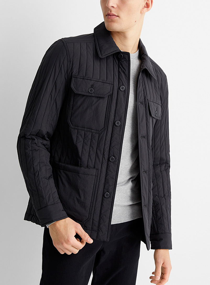 Quilted nylon overshirt